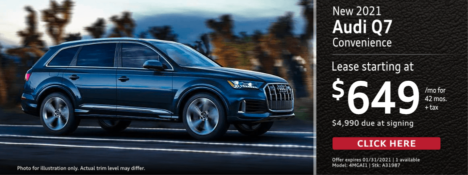 New 2021 Audi Q7 Convenience Lease Special in Norwalk, CA
