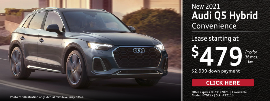 New 2021 AUDI Q5 Hybrid SUV Premium Lease Special in Norwalk, CA