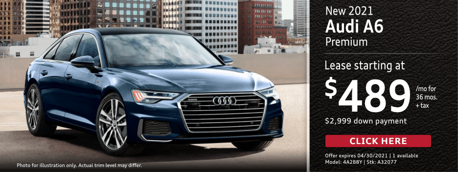 New 2021 AUDI A6 Premium Lease Special in Norwalk, CA