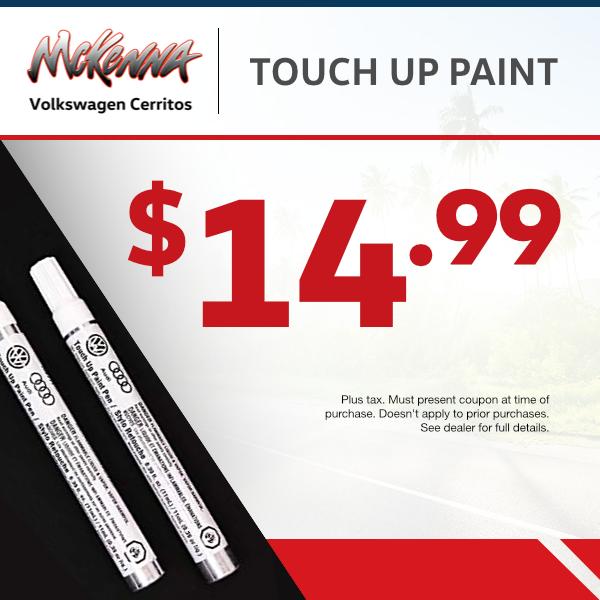 Touch Up Paint Specialat Mckenna Volkswagen Cerritos
