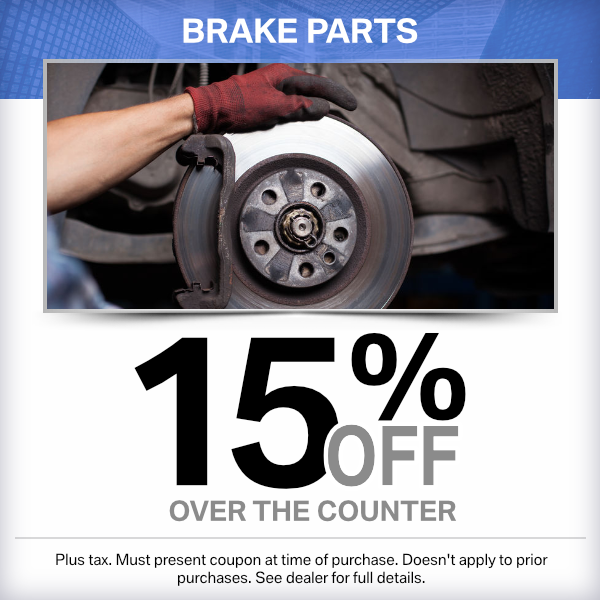15% Off Brake Parts Over the Counter Parts Special in Norwalk, CA