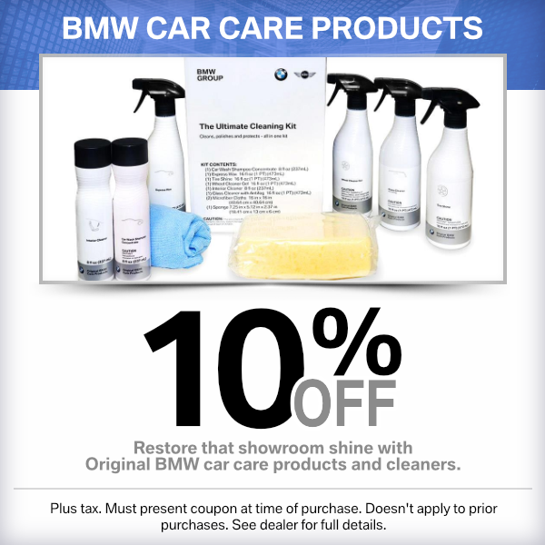 BMW Car Care Products 10% Off