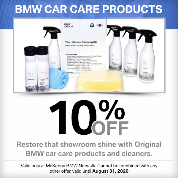 BMW Car Care Products savings at Mckenna BMW in Norwalk, CA