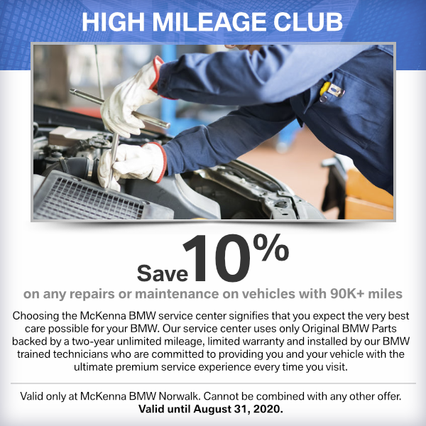 HIGH MILEAGE CLUB SPECIAL at Mckenna BMW in Norwalk, CA
