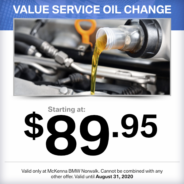 Value service oil change at Mckenna BMW in Norwalk, CA