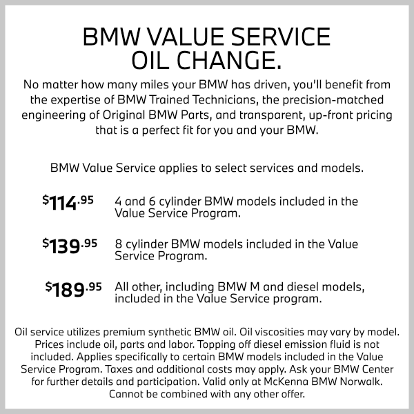 BMW Value Service Oil Change at Mckenna BMW in Norwalk, CA