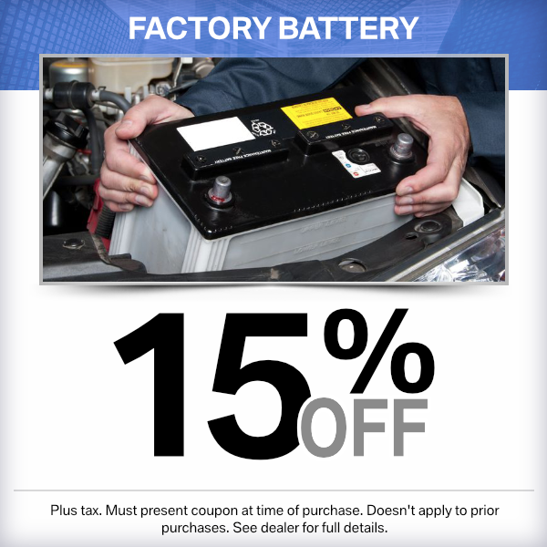 15% Off Factory Battery Over the Counter Parts Special in Norwalk, CA
