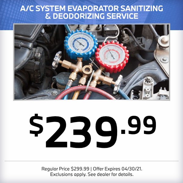 A/C system evaporator sanitizing and deodorizing service $239.99 in Norwalk, CA