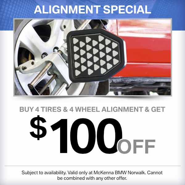 buy 4 tires and 4 wheel alignment and get $100 OFF