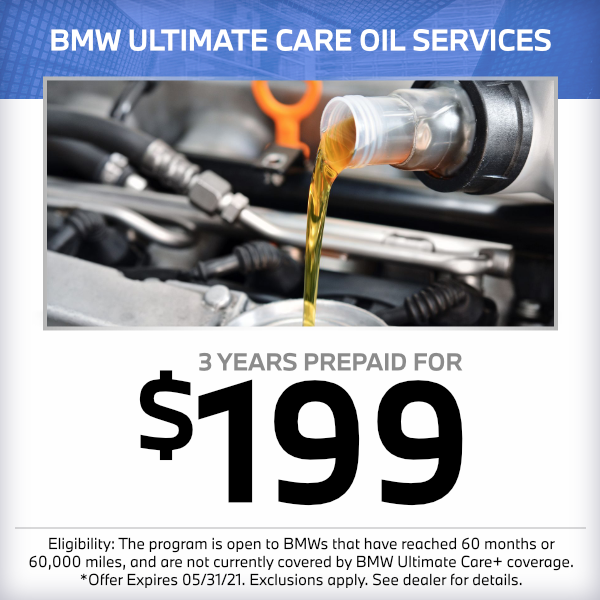 BMW oil change service special in Norwalk, CA
