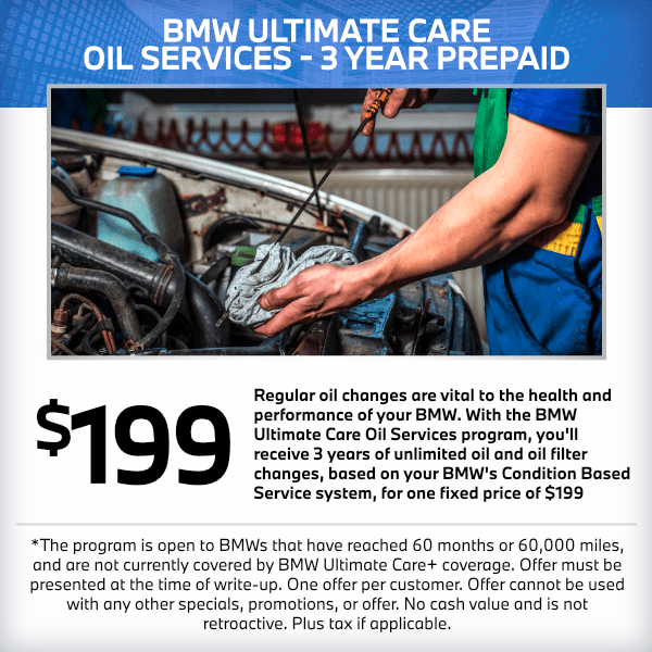 BMW Ultimate Care Oil Services 3 Year Prepaid