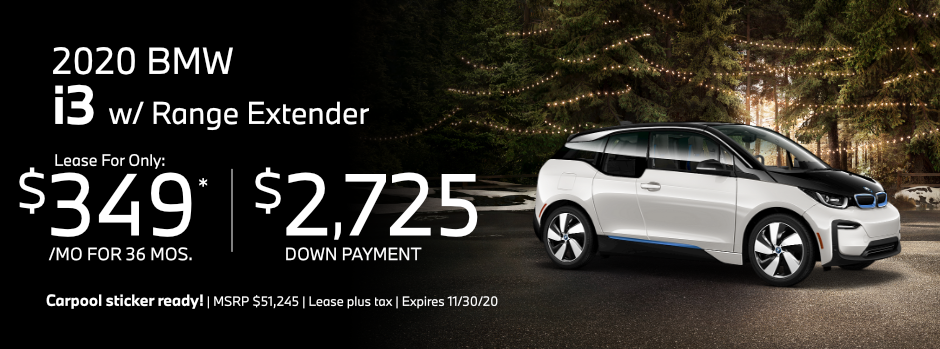 2020 BMW i3 with Range Extender Special Lease Savings in Norwalk, CA