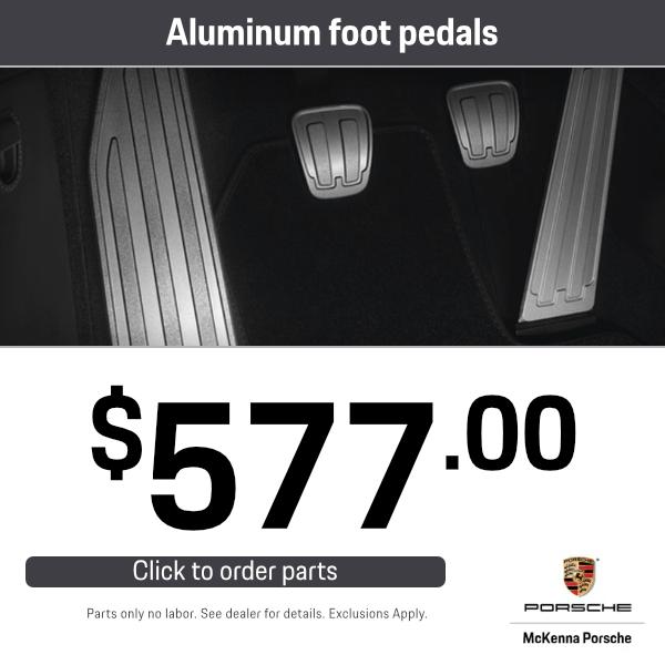 Aluminum Foot Pedals: $577.00