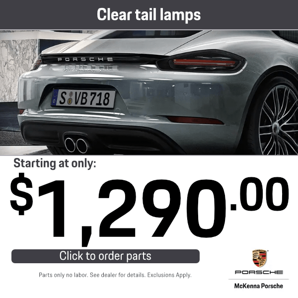 Clear Tail Lamps: Starting at only $1,290.00