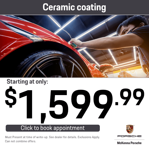 Ceramic coating starting at only $1,599.99Service Special