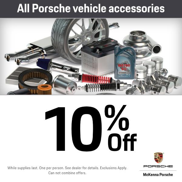 All Porsche vehicle accessories 10% off