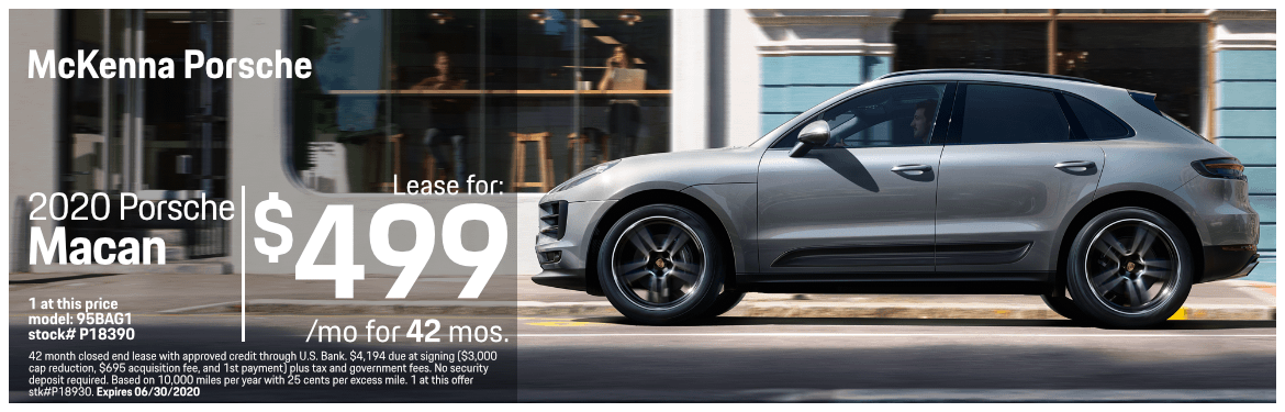 2020 Porsche Macan Base Low Payment Lease Special in Norwalk, CA