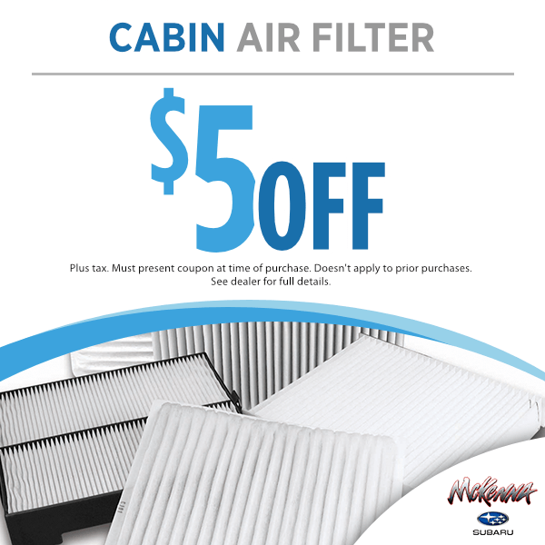 $5.00 off cabin air filter in Huntington Beach, CA