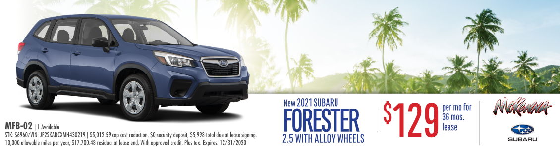 2021 Subaru Forester 2.5 Lease Special in Huntington Beach, CA