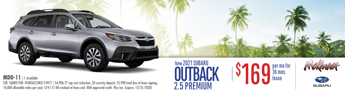 2021 Subaru Outback 2.5 Premium Lease Special in Huntington Beach, CA