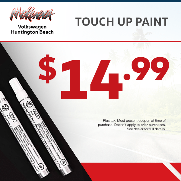 $14.99 Touch up paint at Mckenna Volkswagen Huntington Beach