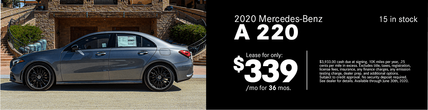 Save on a new 2020 Mercedes-Benz A 220 at Mercedes-Benz of Temecula in Temecula, CA