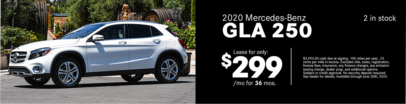 Save on a new 2020 Mercedes-Benz GLA 250 at Mercedes-Benz of Temecula in Temecula, CA