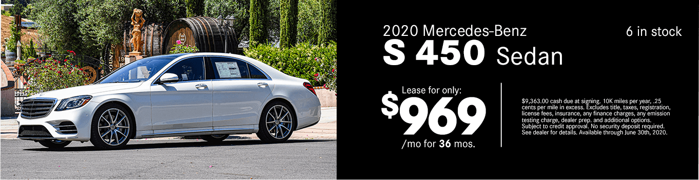Save on a new 2020 Mercedes-Benz S 450 Sedan at Mercedes-Benz of Temecula in Temecula, CA