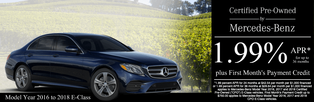 Save on a 2016 to 2018 E-Class at Mercedes-Benz of Temecula in Temecula, CA