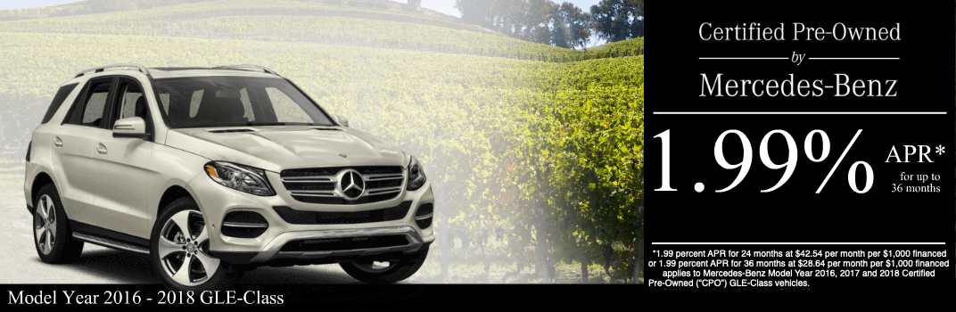 Save on a 2016 to 2018 GLE-Class at Mercedes-Benz of Temecula in Temecula, CA