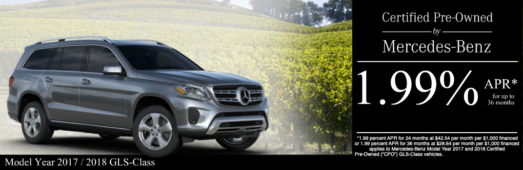 Save on a 2017 to 2018 GLS-Class at Mercedes-Benz of Temecula in Temecula, CA