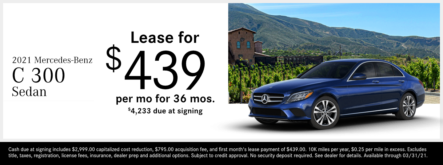 Save on a new 2021 Mercedes-Benz C-Class Sedan model at Mercedes-Benz of Temecula in Temecula, CA