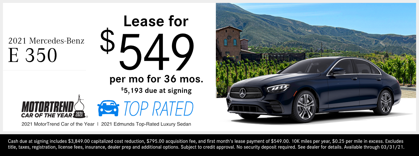 Save on a new 2021 Mercedes-Benz E-Class Sedan model at Mercedes-Benz of Temecula in Temecula, CA