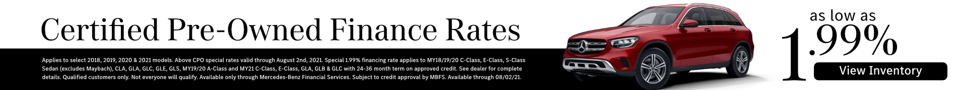 Certified Pre-Owned Mercedes-Benz Finance Rates in Temecula, CA