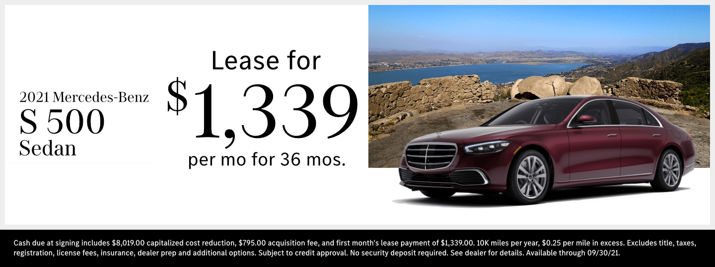 Save on a new 2021 Mercedes-Benz S-Class model at Mercedes-Benz of Temecula in Temecula, CA