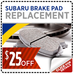 Click here to learn more about this Salt Lake City, UT Subaru brake pad replacement service discount special offer