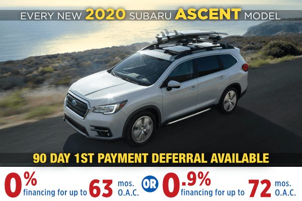 2020 Subaru Ascent Finance Special Salt Lake City, Utah