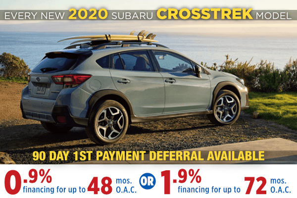 New 2020 Subaru Crosstrek Finance Special Salt Lake City, Utah