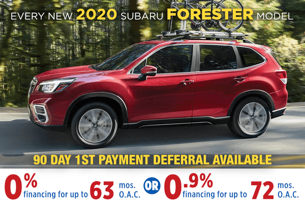 New 2020 Subaru Forester Low Payment Finance Special in Salt Lake City, Utah