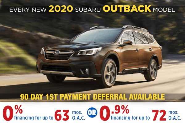 New 2020 Subaru Outback Finance Specials Salt Lake City, Utah