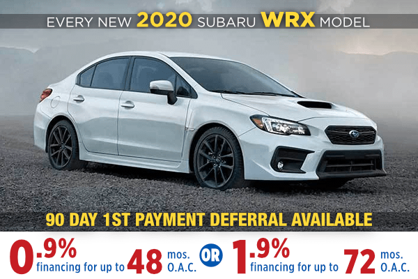 New 2020 Subaru WRX Low Payment Finance Special in Salt Lake City, Utah