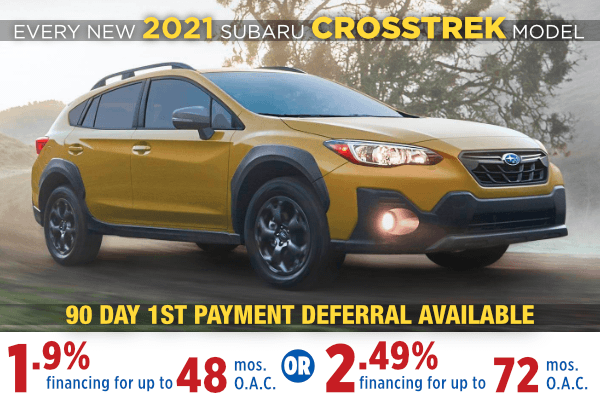 New 2021 Subaru Crosstrek Finance Specials Salt Lake City, Utah