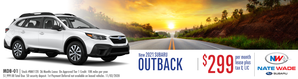 New 2021 Subaru Outback Base Lease Special in Salt Lake City, UT