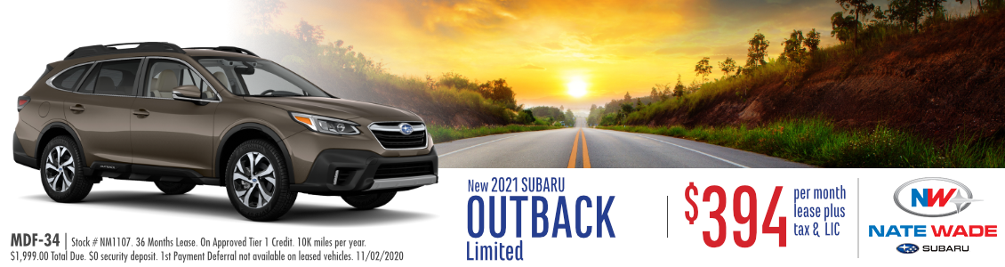 New 2021 Subaru Outback Limited Lease Special in Salt Lake City, UT