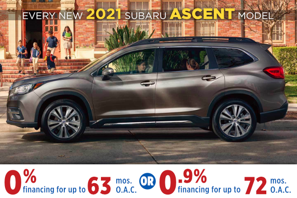 New 2021 Subaru Ascent Finance Specials Salt Lake City, Utah
