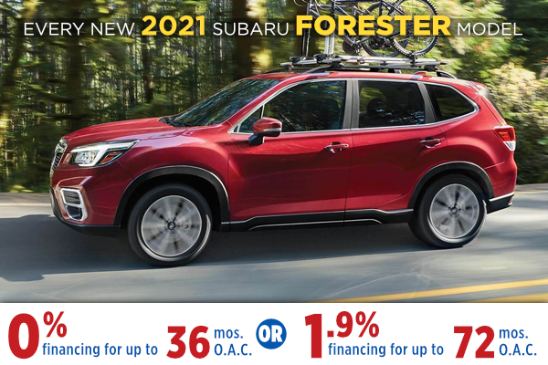 New 2021 Subaru Forester Finance Specials Salt Lake City, Utah