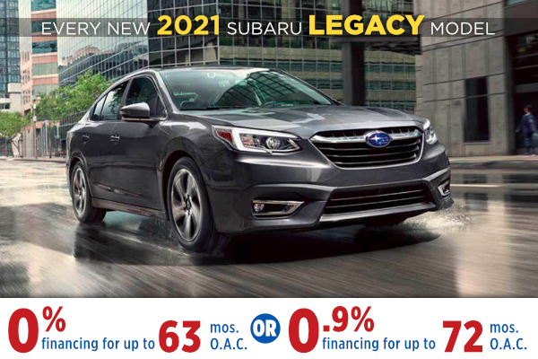 New 2021 Subaru Legacy Finance Specials Salt Lake City, Utah