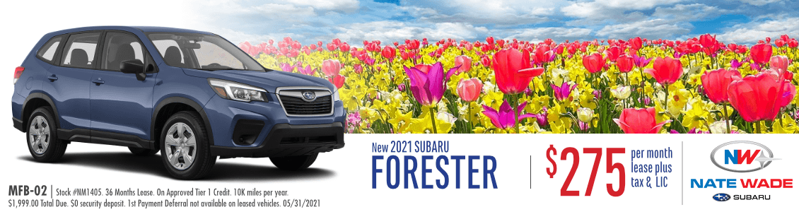 New 2021 Subaru Forester Lease Special in Salt Lake City, UT