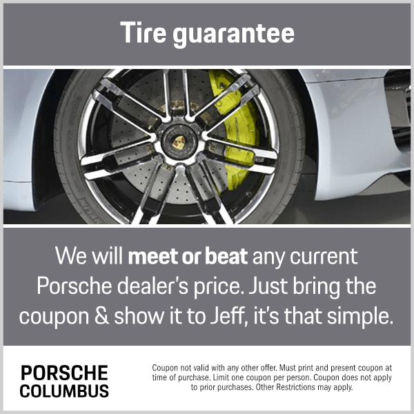 Click to print this Porsche Tire Guarantee Parts Special from Byers Porsche