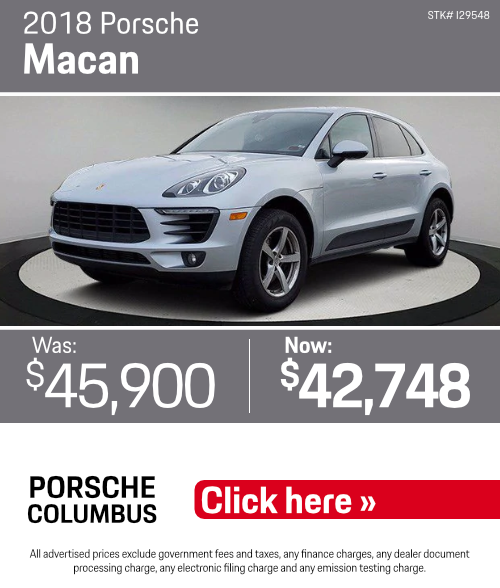 2018 Porsche MacanPre-Owned Special in Columbus, OH
